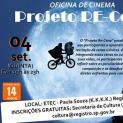 Oficina gratuita de Cinema que ensina recriação  de cenas marcantes acontece nesta quinta-feira, 4/09
