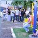 Academia ao ar livre é inaugurada no Bairro Cedro em Juquia